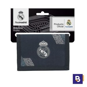 CARTERA BILLETERA MONEDERO REAL MADRID 2ª EQUIPACION DARK GREY 811834036