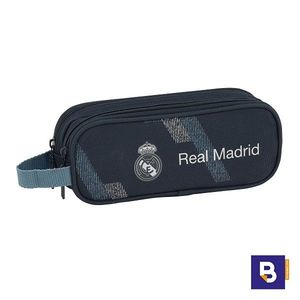 PORTATODO DOBLE ESTUCHE SAFTA REAL MADRID 2ª EQUIPACION DARK GREY 811834513