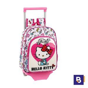 MOCHILA PEQUEÑA CON CARRO SAFTA HELLO KITTY GIRL GANG 611816020