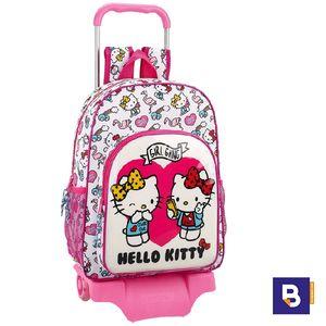 MOCHILA DOBLE CON CARRO SAFTA HELLO KITTY GIRL GANG 611816160