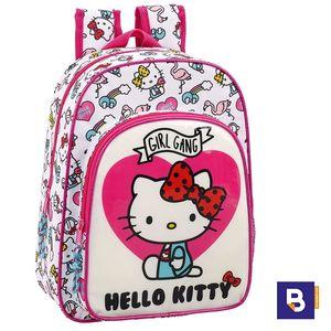 MOCHILA MEDIANA SAFTA ADAPTABLE A CARRO HELLO KITTY GIRL GANG 611816185