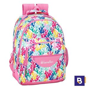 MOCHILA DOBLE 42CM SAFTA ADAPTABLE A CARRO BENETTON CORALLI 611950773