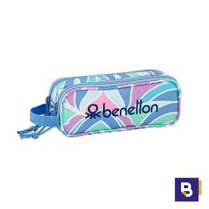 PORTATODO DOBLE ESTUCHE SAFTA BENETTON ARCOBALENO 811951513