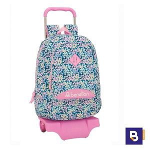 MOCHILA 46CM BACKPACK SAFTA CON CARRO 905 DESMONTABLE BENETTON GARDEN 611952160