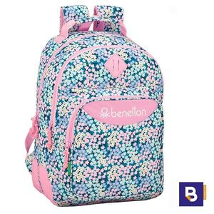 MOCHILA DOBLE 42CM SAFTA ADAPTABLE A CARRO BENETTON GARDEN 611952773