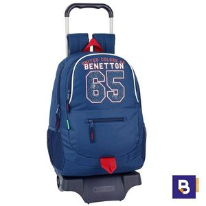 MOCHILA 44CM BACKPACK SAFTA CON CARRO 905 DESMONTABLE BENETTON BOY 65 UCB 611906313 CON RUEDAS