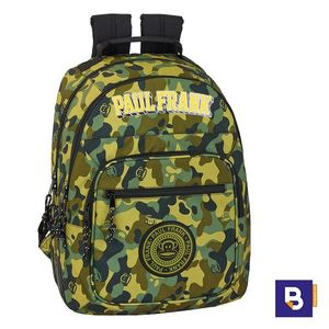 MOCHILA DOBLE 42CM SAFTA ADAPTABLE A CARRO PAUL FRANK CAMO CAMUFLAJE 611919773