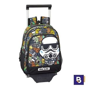 MOCHILA 33CM CON CARRO 705 DESMONTABLE SAFTA STAR WARS GALAXY 611901020