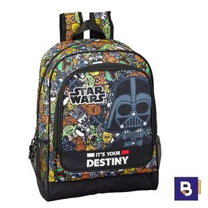MOCHILA 42CM SAFTA ADAPTABLE A CARRO STAR WARS GALAXY 6111901522
