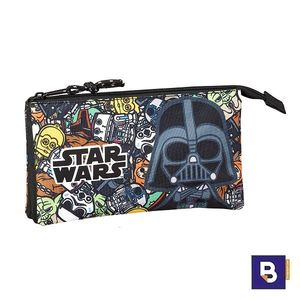PORTATODO TRIPLE ESTUCHE SAFTA STAR WARS GALAXY 811901744