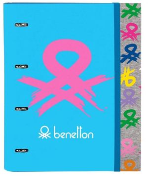 CARPEBLOC SAFTA BENETTON LOGO 4 ANILLAS 30 MM REF 5 12052 666