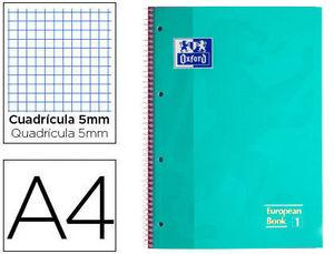 BLOC MICROPERFORADO OXFORD A4 80 HOJAS 90 GRS CUADRICULA 5 MENTA
