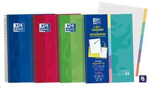 BLOC ESPIRAL CON SEPARADORES A4 EUROPEAN BOOK 5 CUADRICULA 5X5