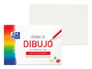 LAMINAS DE DIBUJO OXFORD A4 PACK 10 HOJAS LISAS 130 GRS