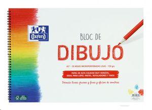 BLOC DE DIBUJO OXFORD A3+ 20 HOJAS MICROPERFORADAS LISAS 130 GRS