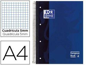 BLOC MICROPERFORADO OXFORD A4 80 HOJAS 90 GRS CUADRICULA 5 AZUL