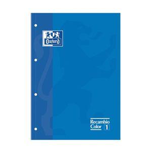 BLOC DE RECAMBIO OXFORD CUADRICULADO A4 80H 90 GS COLOR 1 AZUL