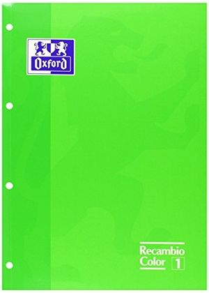 BLOC RECAMBIO DIN A-4 OXFORD COLOR VERDE FLUORESCENTE