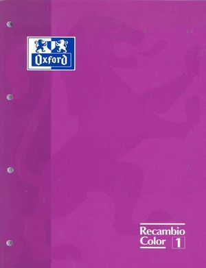 BLOC RECAMBIO DIN A-4 OXFORD COLOR LILA CUADRICULA