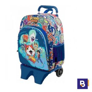 MOCHILA CON CARRO DESMONTABLE YO-KAI WATCH SPORTANDEM 072038
