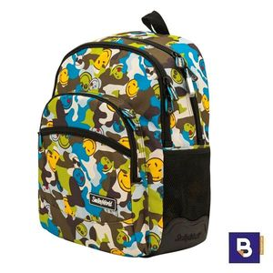 MOCHILA DOBLE SPORTANDEM ADAPTABLE A CARRO SMILEY CAMU CAMUFLAJE 568029