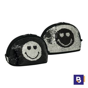 NECESER MOON SPORTANDEM SMILEY WORLD SEQUIN SILVER LENTEJUELAS REVERSIBLES NEGRO PLATA 571128