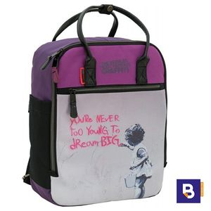 MOCHILA SPORTANDEM ERASMUS TRENDY BRANDALISED DREAM BANKSY 610018
