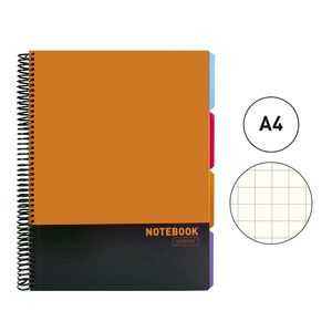 BLOC MICROPERFORADO POLIPROPILENO A4 NOTEBOOK TUKNO SOHO SENFORT NARANJA 20584