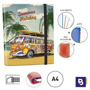 CARPEBLOC RINGBOOK A4 SENFORT BAGGUAY RETRO FURGONETA 144048