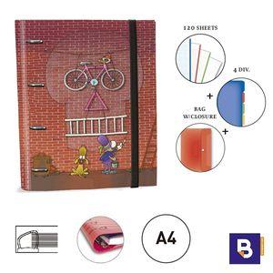 CARPEBLOC RINGBOOK A4 SENFORT MORDILLO BICICLETA 150048