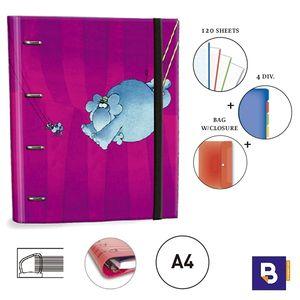 CARPEBLOC RINGBOOK A4 SENFORT MORDILLO ELEPHANT 151048