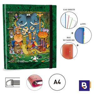 CARPEBLOC RINGBOOK A4 SENFORT MORDILLO JUNGLA 151048