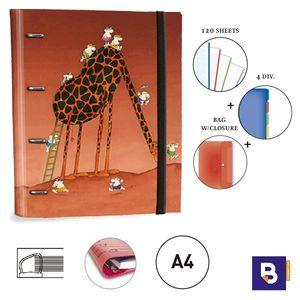 CARPEBLOC RINGBOOK A4 SENFORT MORDILLO JIRAFA 151048