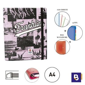 CARPEBLOC RINGBOOK A4 SENFORT FRANKLIN MARSHALL F&M SURF ROSA 53048