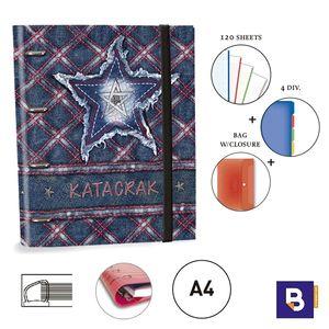 CARPEBLOC RINGBOOK A4 SENFORT KATACRAK JEANS CUADROS 119048