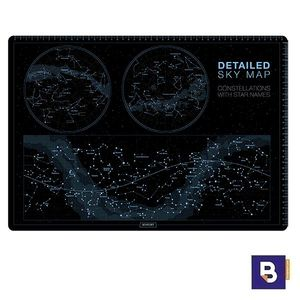 VADE DE SOBREMESA SENFORT CONSTELACIONES 1270086 NEGRO CONSTELLATIONS WITH STAR NAMES DETAILED SKY MAP