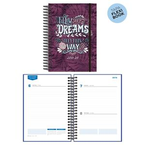 AGENDA ESCOLAR 2019/20 SENFORT STUDENT DIA PAGINA ESPIRAL KATACRAK DREAMS 1627192 VIOLETA FOLLOW YOUR DREAMS THEY KNOW THE WAY