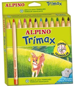 LAPICES COLORES ALPINO TRIMAX 12