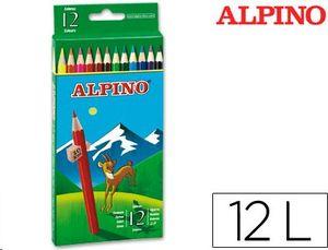 LAPICES DE COLORES ALPINO 654 CAJA DE 12 COLORES LARGOS