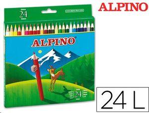 LAPICES DE COLORES ALPINO 656 CAJA DE 24 COLORES LARGOS