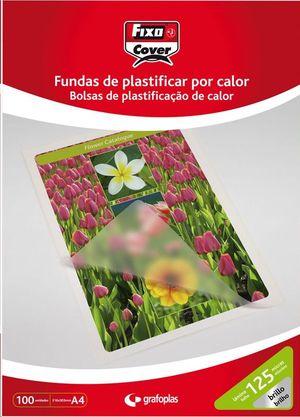 FUNDA PLASTIFICAR DIN A-4 125 MICRAS FIXO COVER PACK 100 FUNDAS