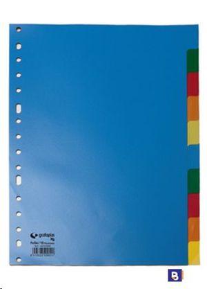 SEPARADOR PLASTICO A4 10 POSICIONES XS GRAFOPLAS