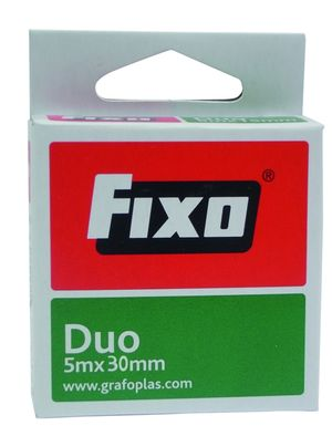 CINTA ADHESIVA DOBLE CARA DUO 5X30 MM FIXO
