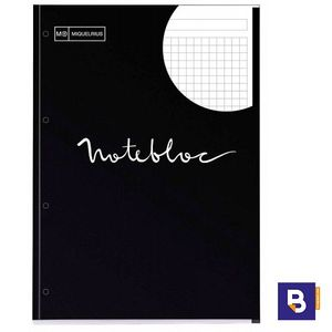 BLOC RECAMBIO MICROPERFORADO CUADRICULADO A4 90G NOTEBOOK MIQUELRIUS EMOTIONS NEGRO 7126