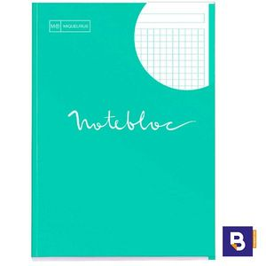 BLOC MICROPERFORADO CUADRICULADO A4 90G NOTEBOOK MIQUELRIUS EMOTIONS TURQUESA 7129