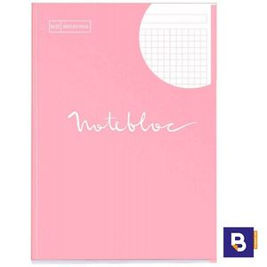 BLOC RECAMBIO MICROPERFORADO CUADRICULADO A4 90G NOTEBOOK MIQUELRIUS EMOTIONS ROSA 7137