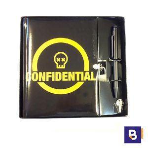 DIARIO CON BOLIGRAFO Y CANDADO CONFIDENTIAL MIQUELRIUS 7404