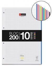 RECAMBIO BLOC 100 HOJAS A4 NOTEBOOK 10 COLORES MIQUELRIUS REF 7481