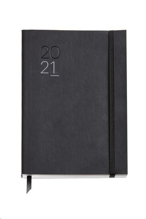 AGENDA 2021 155X213 SEMANA/VISTA PLUS LUXOR FLEXIBLE NEGRO REF 22528