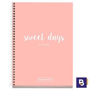 AGENDA ESCOLAR 2019/20 MIQUELRIUS PLUS SEMANA VISTA ESPIRAL 150X213 EMOTIONS ROSA 27783 SWEET DAYS
